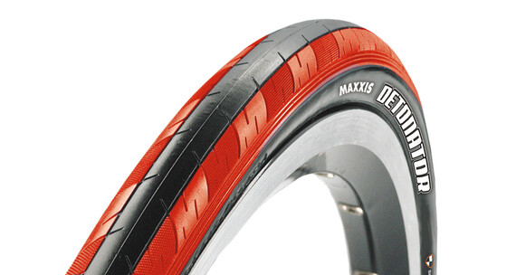 Maxxis Detonator 23-622 Dual Racerdäck Vikbart röd/svart